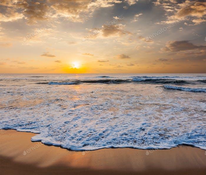 Sunrise on beach