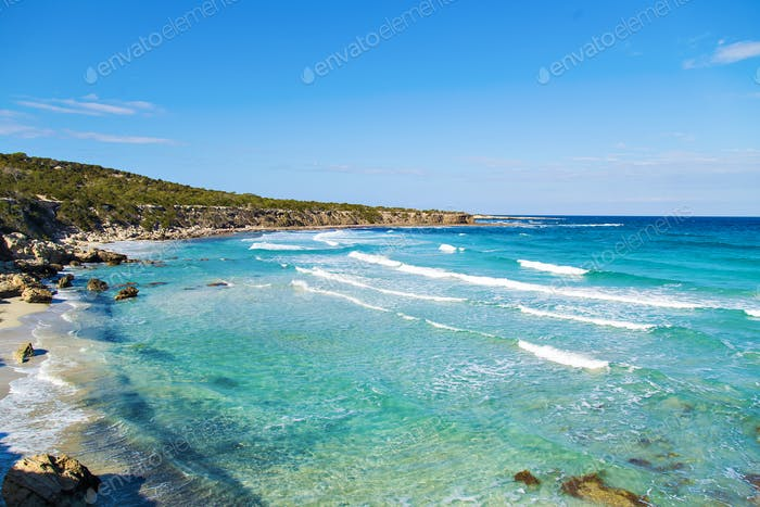 Blue lagoon Akamas in Cyprus