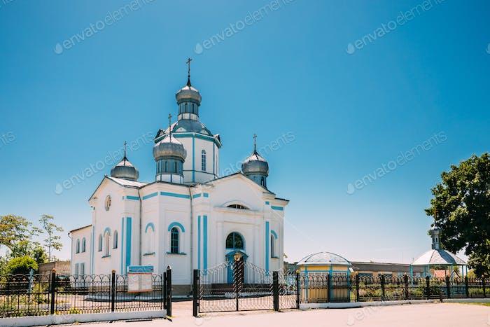 Dovsk, Gomel Region, Weißrussland. ansicht von kirche von der Fürbitte
