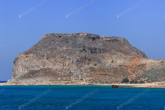 The ruins of ancient Venetian fortress. Crete, Greece