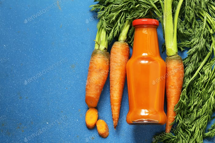 Natural Organic Fresh Juice from Carrots