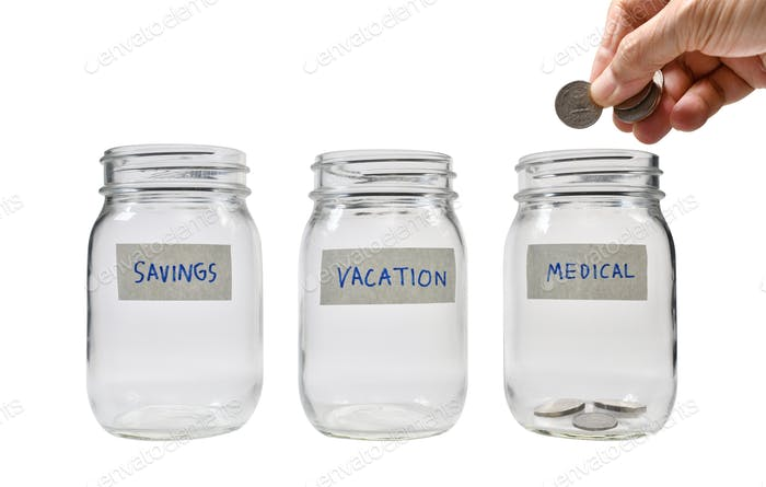Concept of saving money