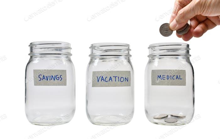 Konzept des Sparens von Geld