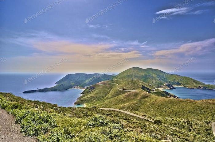 Bay at Mani in Greece