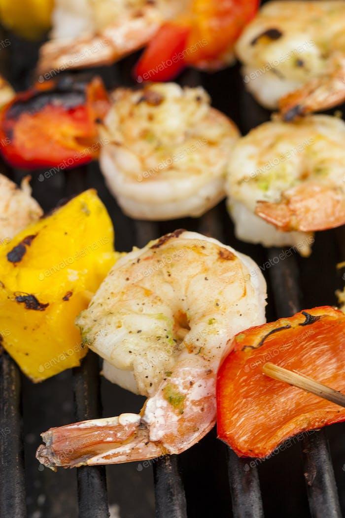 Homemade Shrimp Shish Kebab