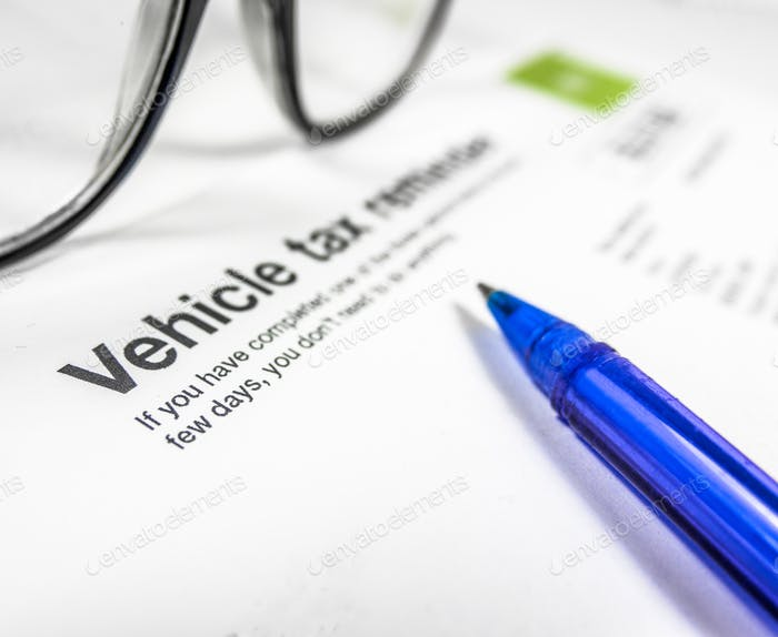 Vehicle Tax Reminder Letter