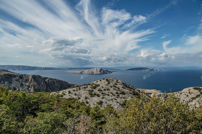 Mittelmeer Kroatische Inseln Panorama