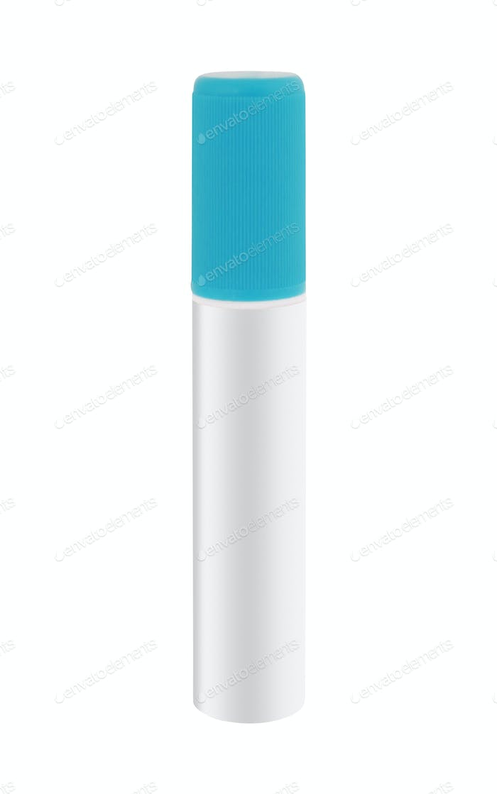 Blue marker on a white background