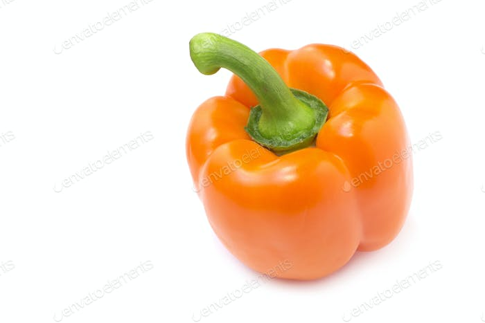 close up of an orange pepper