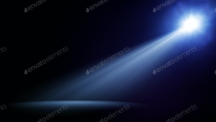 blue stage light beam background