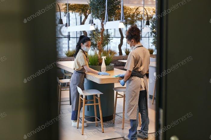 Sanitizing in Cafe