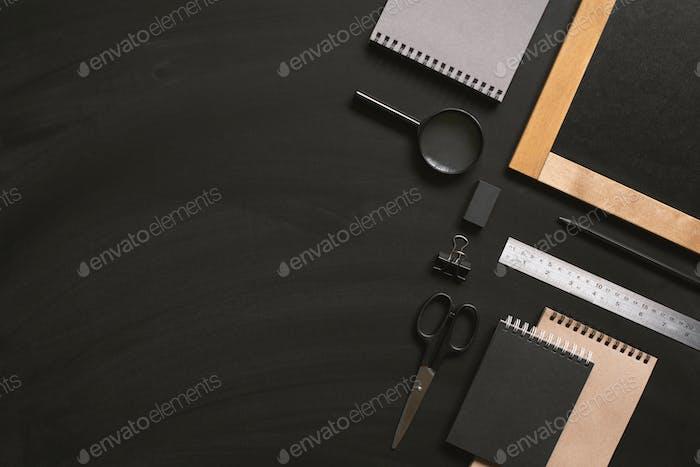 Education, Black Background