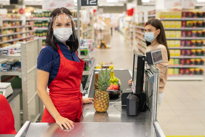 Personal Protection In Supermarket