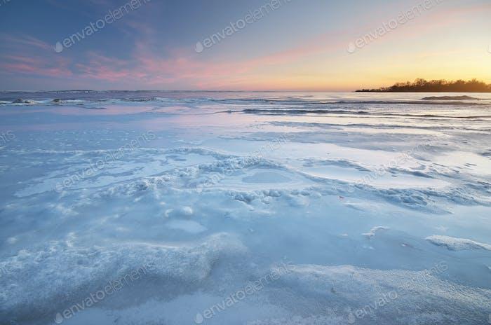 Winter-Naturlandschaft.