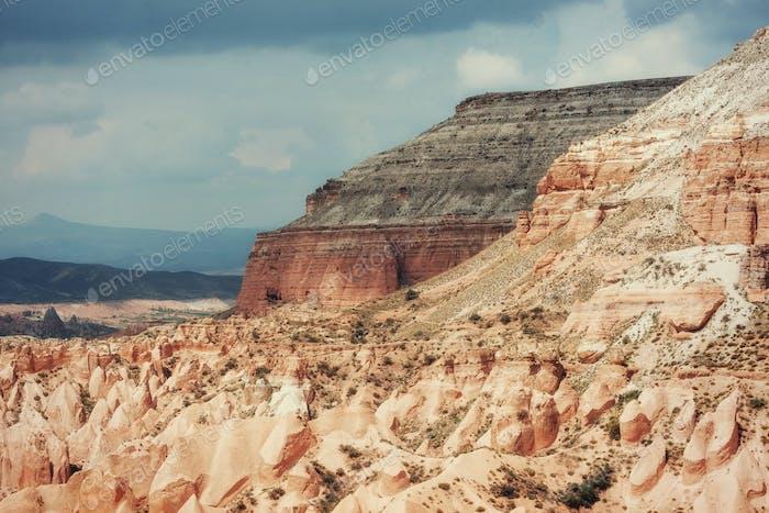 Beauty geological formations in Cappadocia, Turkey.