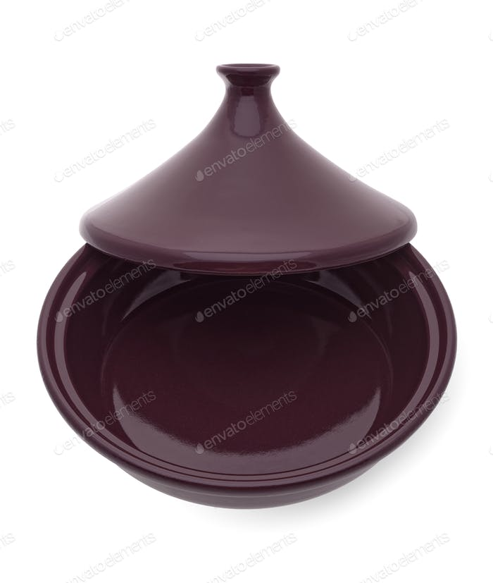Traditional Moroccan ceramic tagine