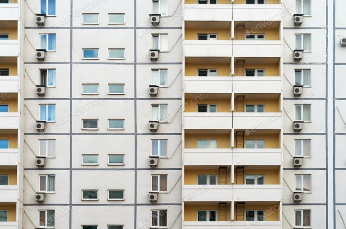 Multi-storey building texture.