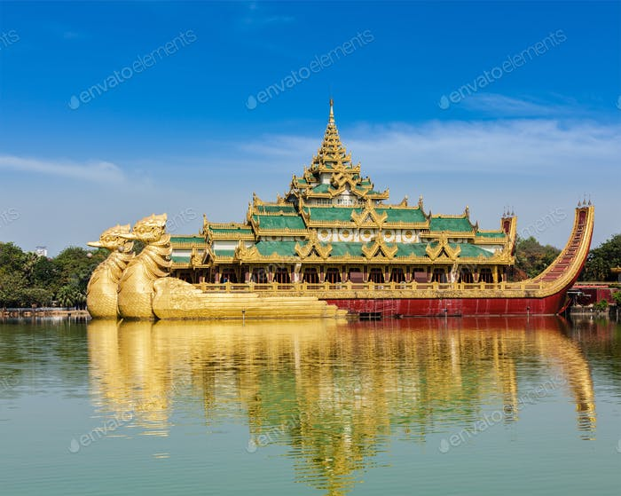 Karaweik - replica of Burmese royal barge, Yangon