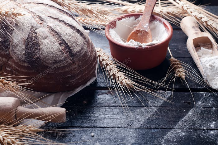 Baking ingredients. Food background