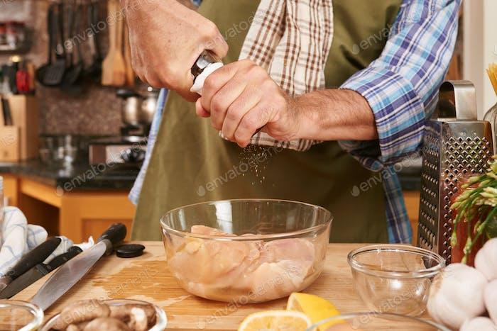 Seasoning fillet