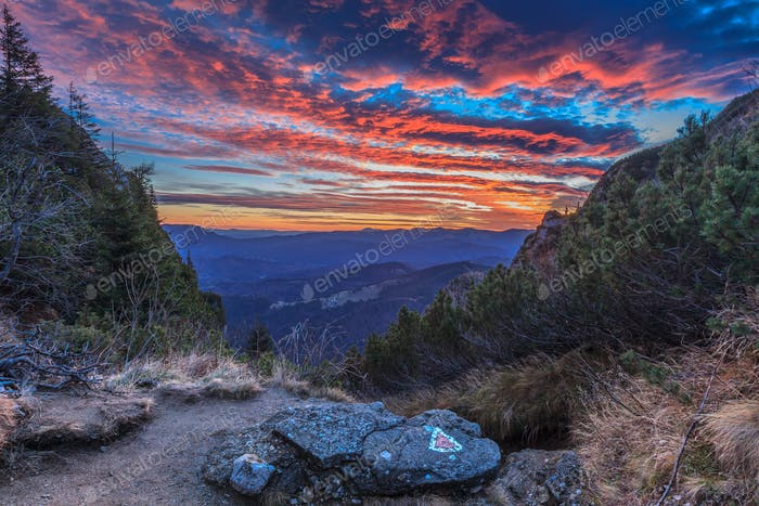 sunrise at mountain