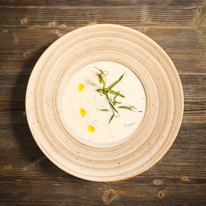 Roasted potato cream soup