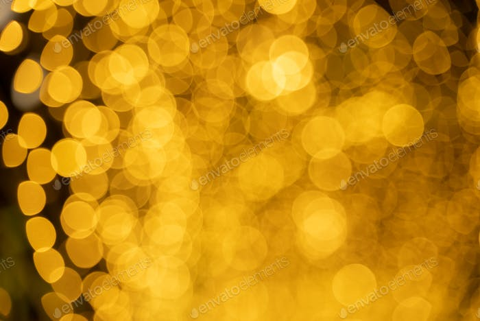 abstract blurry bokeh  blurry patten in gold bright shiny,