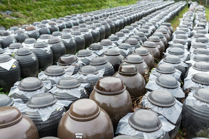 Row of Vinegar Barrel store at outdoor