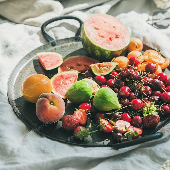 Summer healthy raw vegan clean eating breakfast, square crop