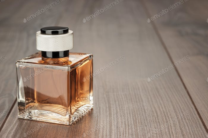 Perfume Bottle On The Table