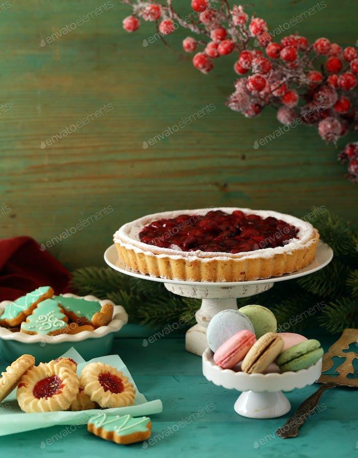 Hausgemachte Kirschkuchen Torte