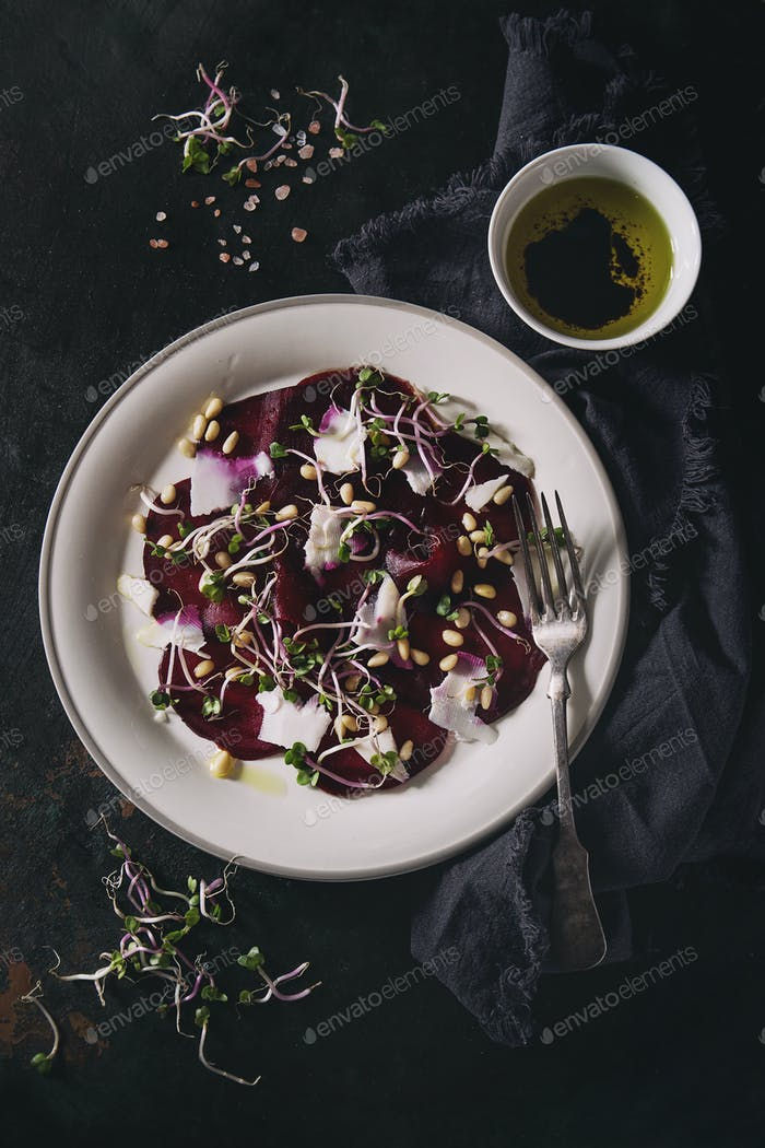 Beetroot carpaccio salad