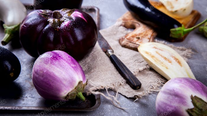 Eggplants are different. Vegetables.
