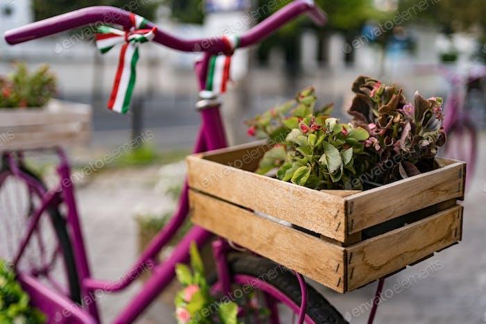Oldtimer Fahrrad auf Ziegelstein