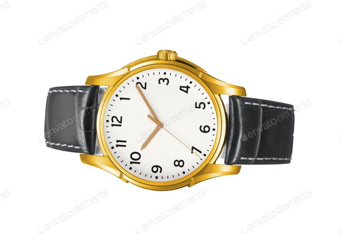 modern watch isolated