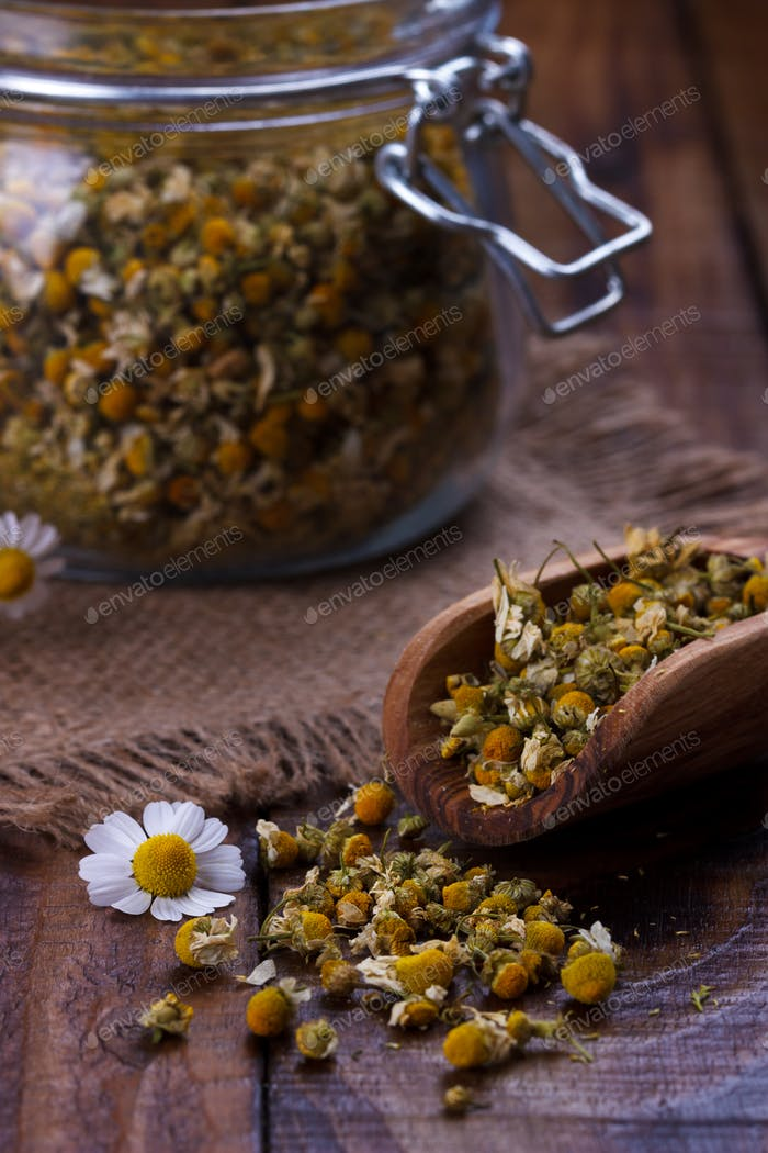 Portion of dried Chamomile