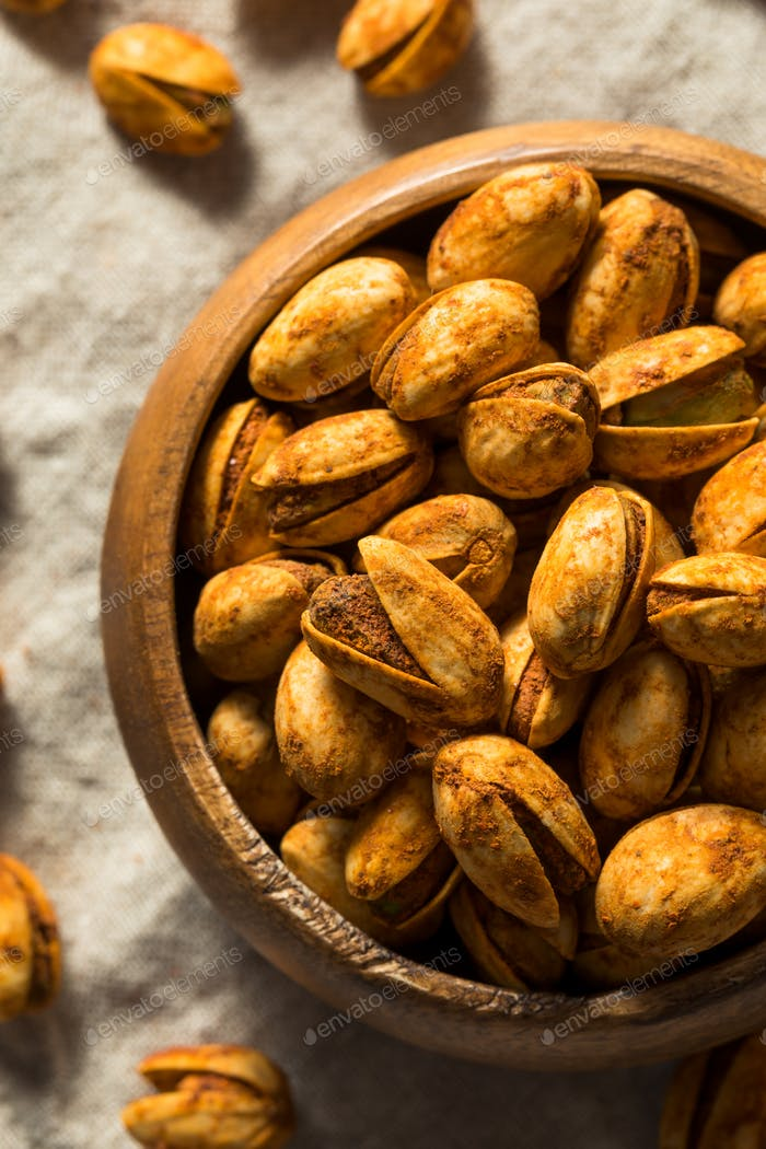 Homemade Spicy Shelled Pistachios