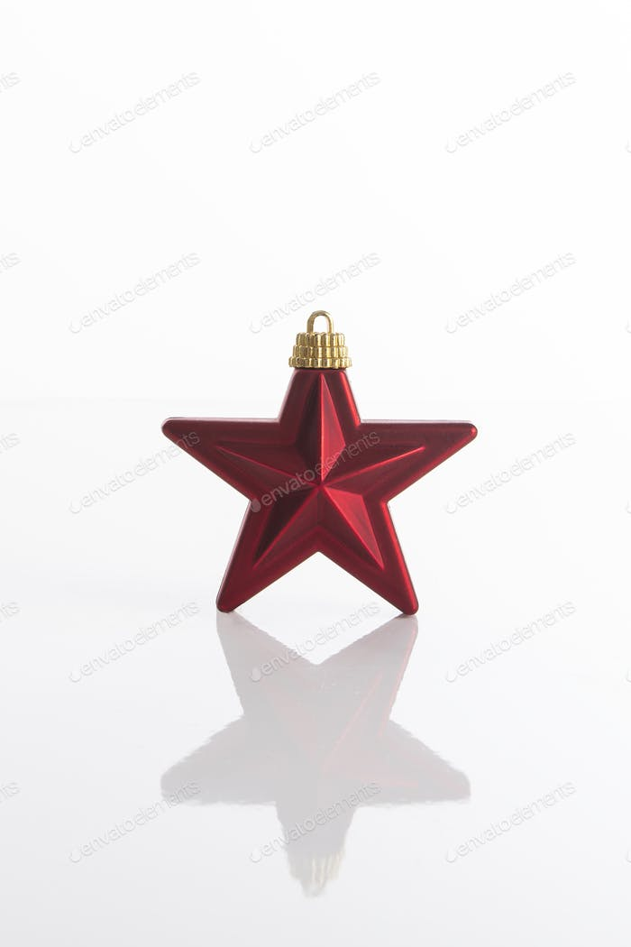 Roter Weihnachtsstern Ornament