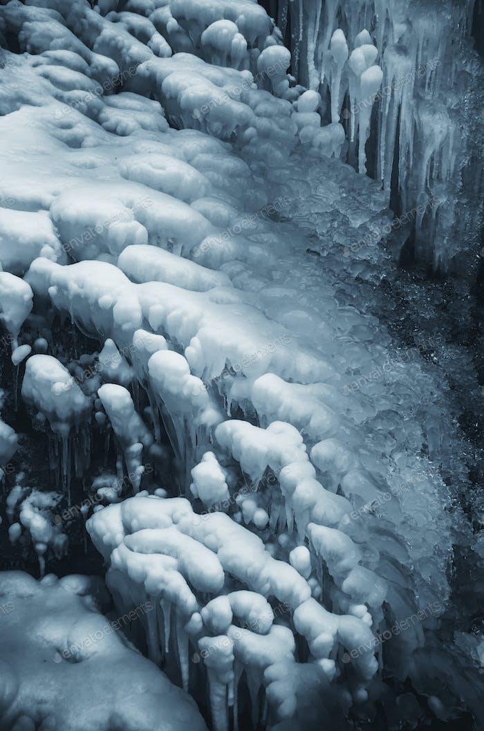 Eis Hintergrund, kaltes Wetter im Winter