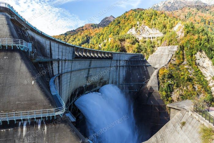 Kurobe dam in Toyama