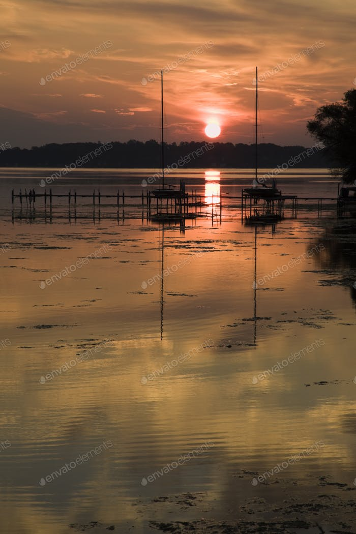 Sunrise by Monona Lake