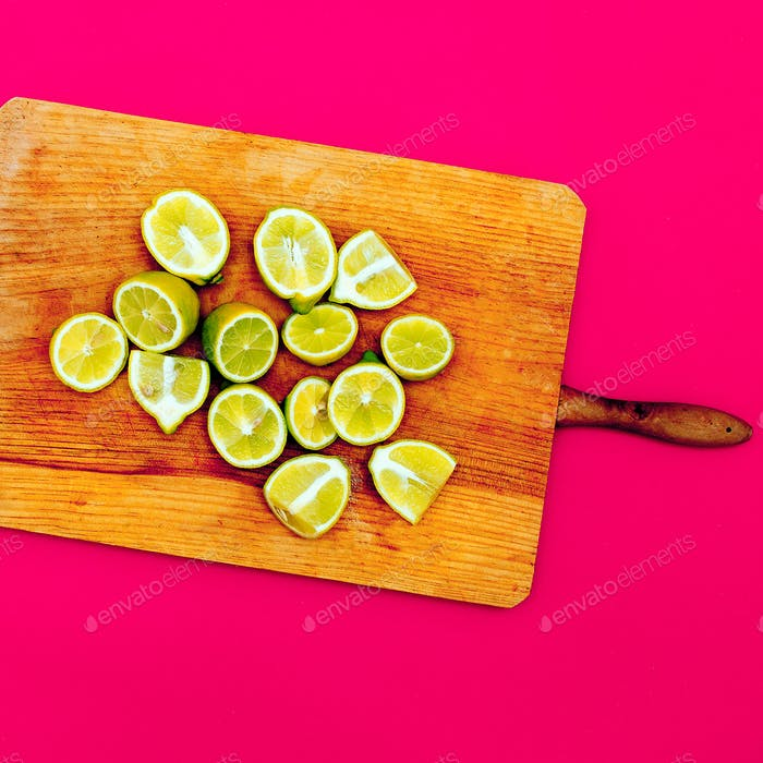 Limes. Minimal idea food creative