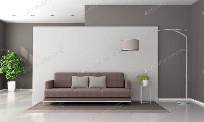 Brown and white modern lounge