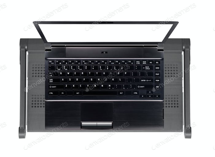 Modern and stylish laptop on stand