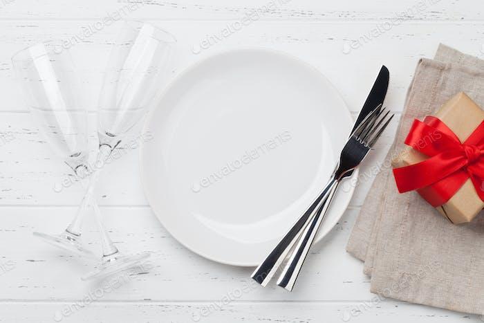 Valentinstag Tischeinstellung