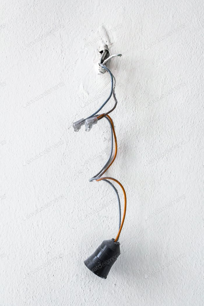Dangerous bad wiring leading to the bulb