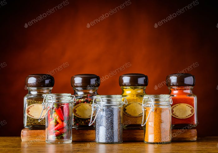 Spices in Glasses