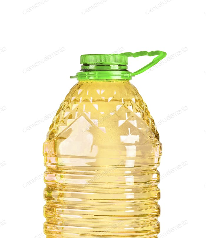 bottle oil plastic big isolated