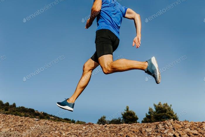 side view legs male runner
