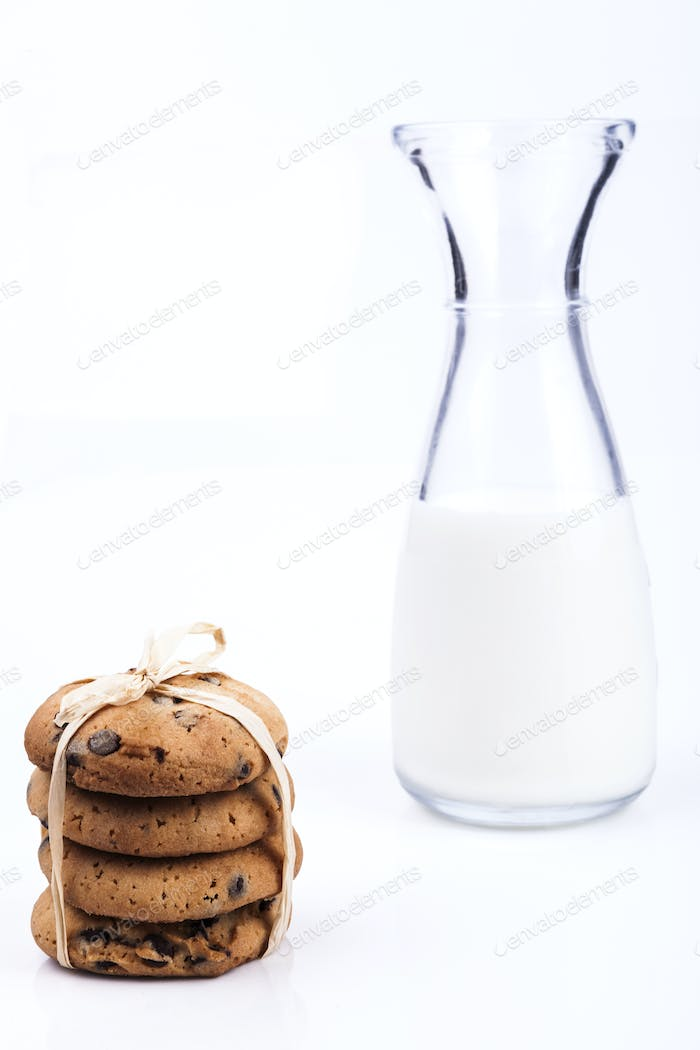 Pile of Cookies and Milk